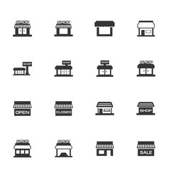 store icons set vector image vector image