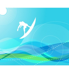 surfer with waves vector image vector image