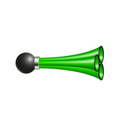 Triple air horn in green design vector