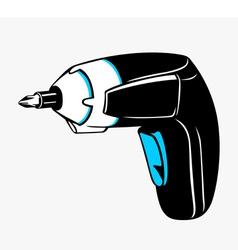 Cordless screwdriver vector image