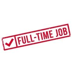 Full-time job stamp vector