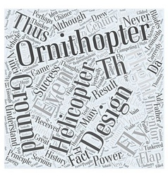 History of ornithopters word cloud concept vector