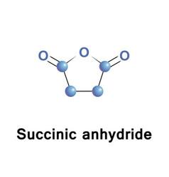 Succinic anhydride molecular formula vector