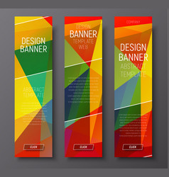 Template of vertical web banners with abstract vector