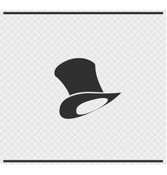 Hat icon black color on transparent vector