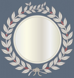 Laurel wreath in silver vector
