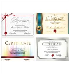 Certificate template set vector image