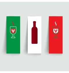 Banners set on italian wines vector