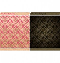 Seamless decor vintage wallpaper background vector