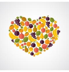 healthy food heart composition vector image