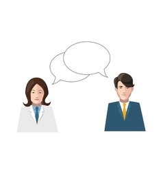Dialogue men and women flat on white vector