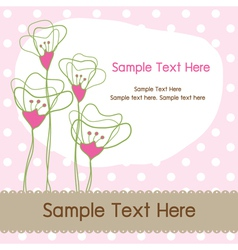 Floral dot graphic card vector