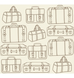 Travel bags seamless pattern vector