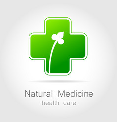 Natural medicine logo vector