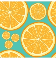 Seamless pattern with hand drawn orange slices vector