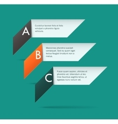 Origami labels vector image