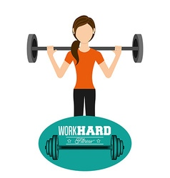 Work hard design vector