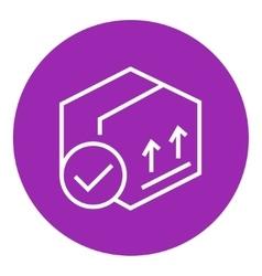 Carton package box line icon vector