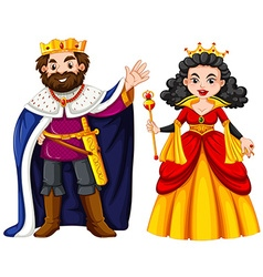 King and queen with happy face vector image