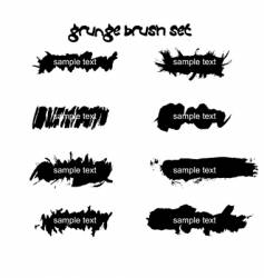 Grunge ink splat brush vector