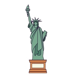 Liberty statue isolated icon design vector