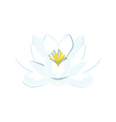 Blue water lily vector