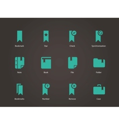 Bookmark tag favorite icons vector