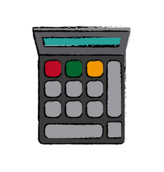 Calculator financial economy equipment image vector