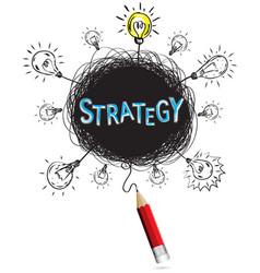 concept pencil idea isolate write blue strategy vector image vector image