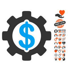 Development cost icon with lovely bonus vector
