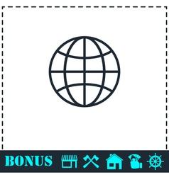 Earth icon flat vector image