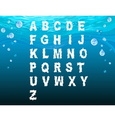 English alphabet in the underwater style vector