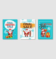 final christmas sale holiday vector image vector image