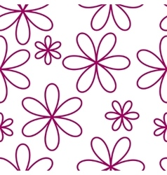 Flower seamless pattern pink color vector