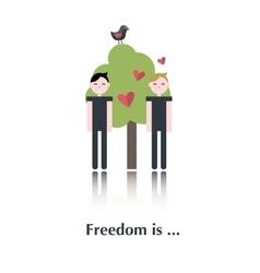 Gay people icon vector image vector image