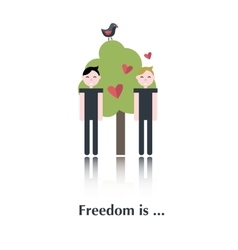 Gay people icon vector image