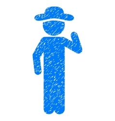 Gentleman opinion grainy texture icon vector