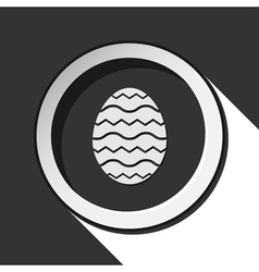 Grey button with easter egg vector