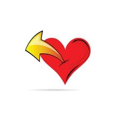 heart with an arrow vector image