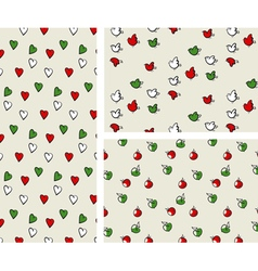 Italian color pattern set vector