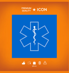 Medical symbol of the emergency - star of life vector
