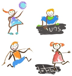 playing children vector image