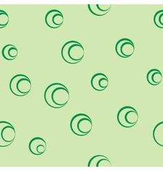 Polka dot green seamless pattern vector image