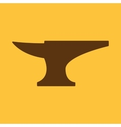 The anvil icon Smith and forge blacksmith symbol vector image