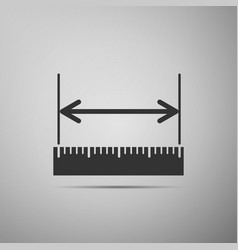 The measuring height and length icon ruler vector