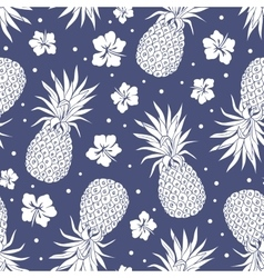 Vintage pineapple seamless pattern vector image