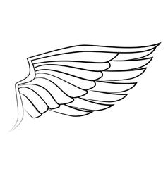 Wing freedom symbol icon graphic vector