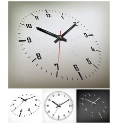 Round dial on gray vector