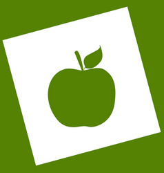 Apple sign   white icon vector