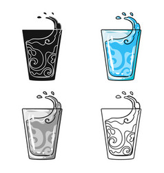 transparent glass with water water to take my vector image
